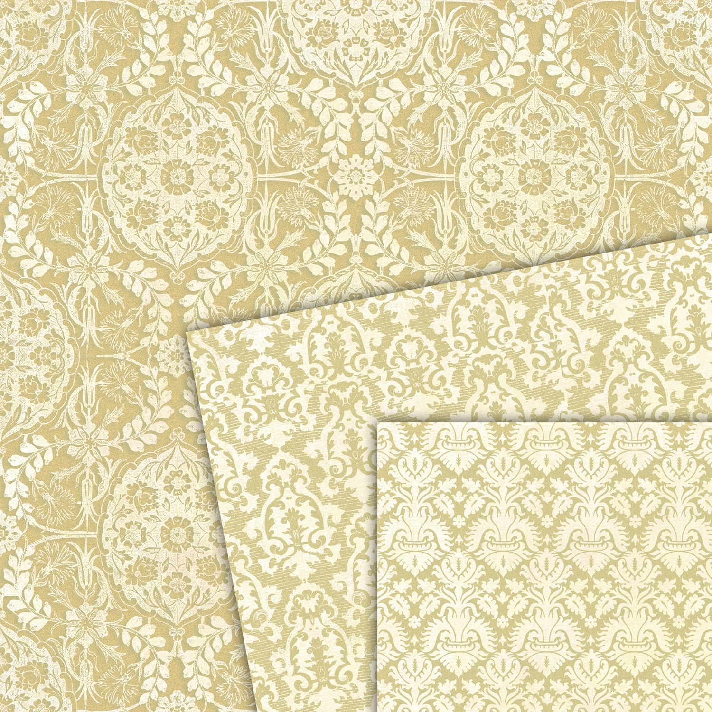 Scrapbook paper images - Baerdesignstudio Digital Scrapbook Paper Gold And Ivory Digital Paper