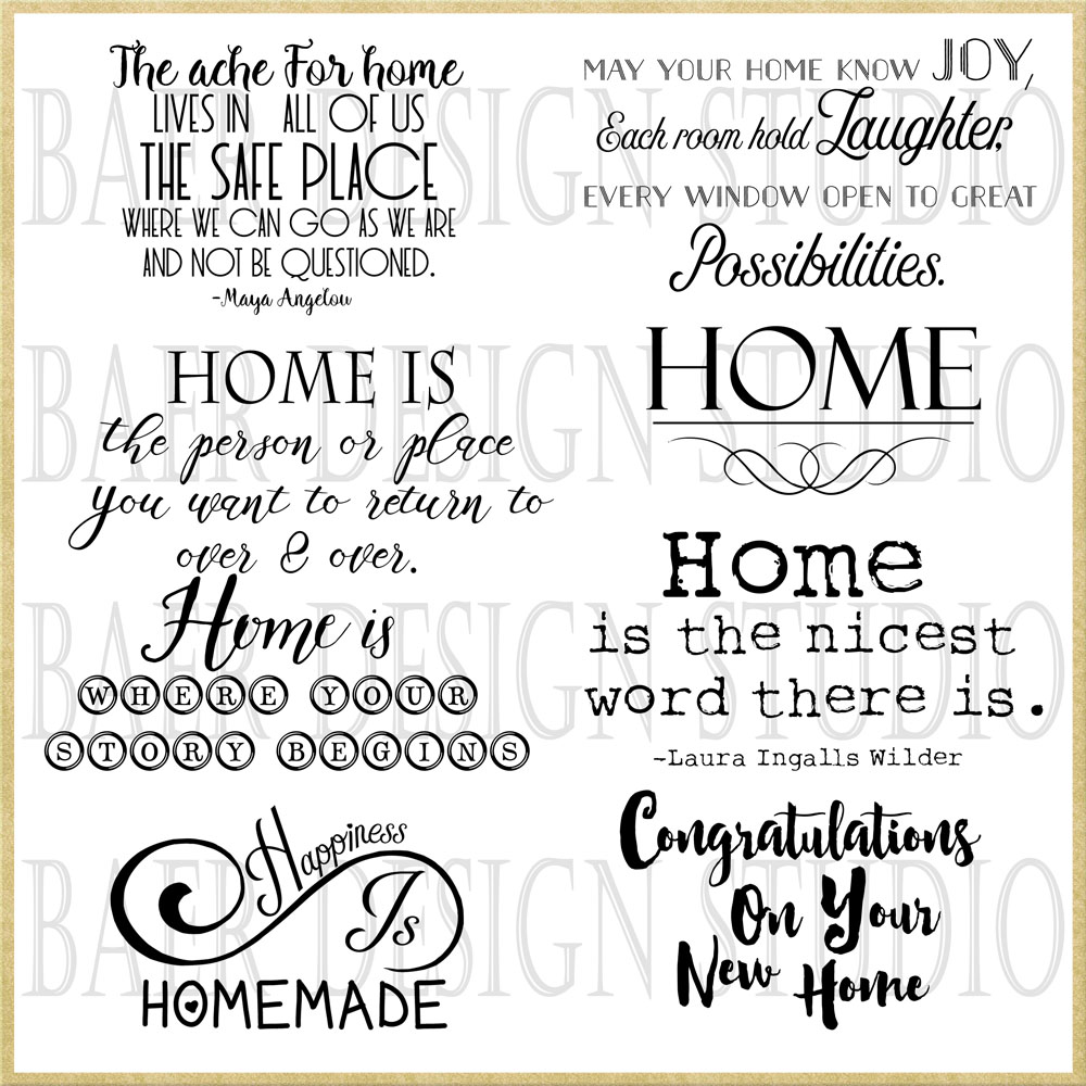 New Home Quotes Home Quotes Scrapbooking Quotes 22217  Baer Design Studio
