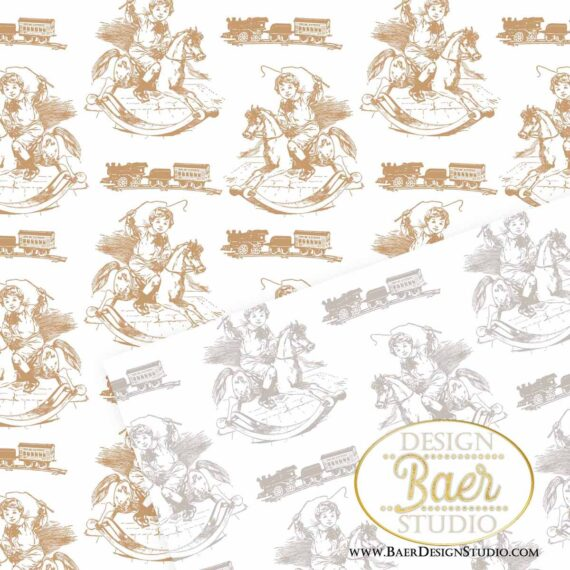 Brown Toile Digital Background